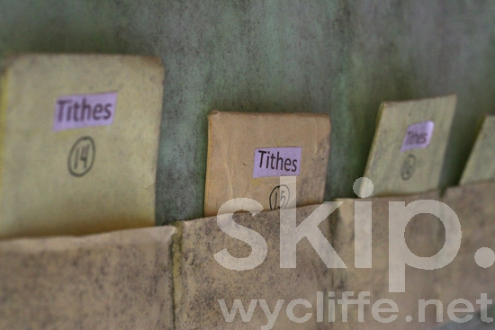 Tithe;tithes;envelopes;church;village;pockets;Philippines