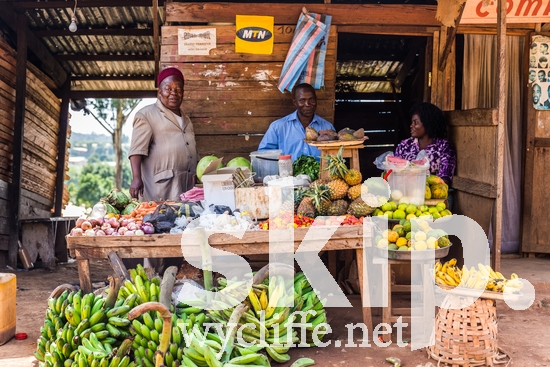 Africa;African;Bamenda;Cameroon;Northwest;West Africa;Woman;bananas;fruit;man;market;sell;store;vegetables