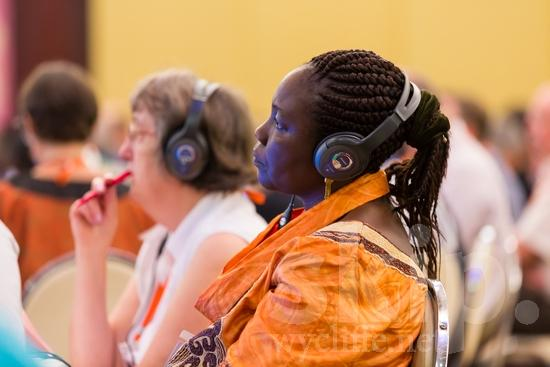 African;Chadian;ICON;Look!2012;SIL International Conference;Wycliffe Global Gathering;africain;africaine;africana;africano;headphones;listening;woman;アフリカ人;非洲人