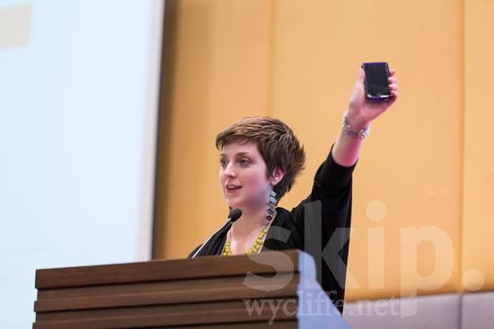 American;ICON;Look!2012;North American;SIL International Conference;Wycliffe Global Gathering;mobile phone;talking;woman