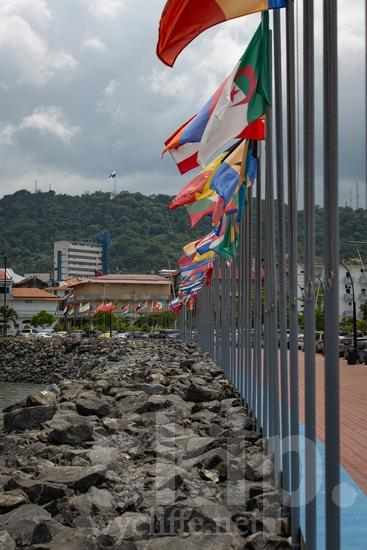 Central America;Panama City;flags;street photography