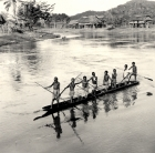 Canoe;Historical;PNG;River;Sep