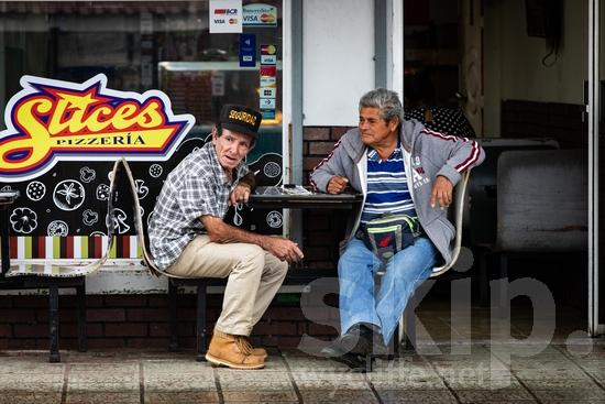 Central America;Costa Rica;San Jose;chair;man;men;sitting;street photography
