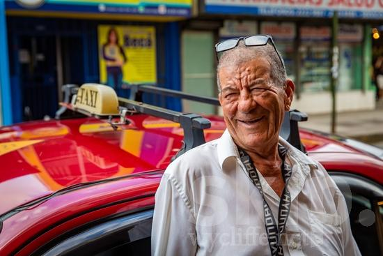 Central America;Costa Rica;San Jose;driver;glasses;smile;street photography;taxi