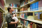 Australian;Baby;Father;Library