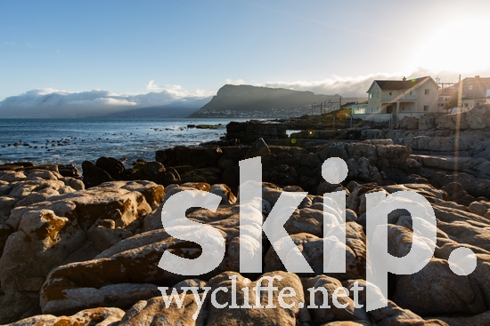 Cape Town;SA;South Africa;house;ocean;rocks;sunset;water