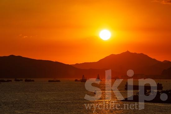 Asia;Asien;COUNTRY;China;Chine;Harbor;Hong Kong;L\'Asie;Sunset;Water;Youth* [yue];crépuscule;ocaso;pôr-do-sol;Ásia;Азия;Китай;中国;亚洲;夕日;日落;아시아;중국