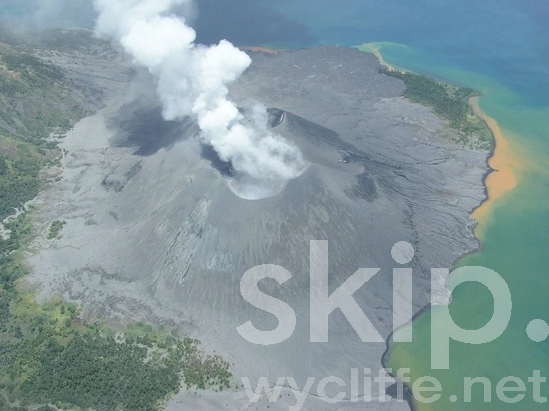 Aerial;Ash;Coast;Coastal;Mountain;Ocean;PNG;Pacific;Pacific Islands;Papua New Guinea;Rabaul Volcano;Scenic;Sea;Smoke;Volcano;Water
