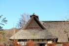 Thatch-roof;blue-sky;tradition