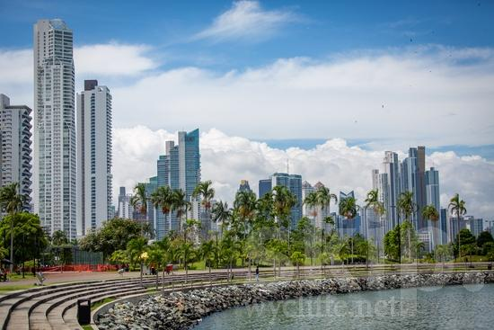 Central America;Panama City;architecture;buildings;street photography;trees;water