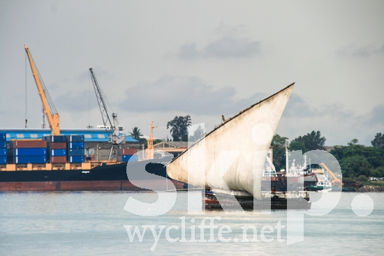 Africa;boat;freighter;sail;sea;water