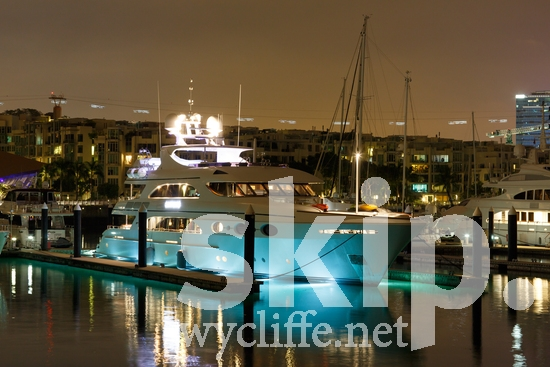 Asia;boat;harbor;lights;night;water;yacht
