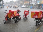 flood;water;motercycles;delive